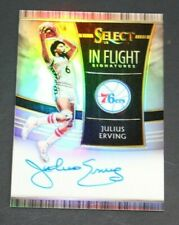 JULIUS ERVING 2018-19 SELECT IN FLIGHT SILVER AUTOGRAPH ON CARD AUTO / 49