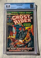 Marvel Spotlight #5 CGC 8.0 / Origin & 1st appearance Johnny Blaze/Ghost Rider