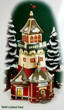 Dept 56 North Pole Village SANTA'S LOOKOUT TOWER #56294 Colored Sleeve
