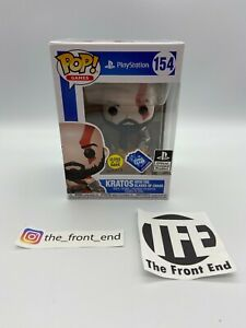 Funko POP Kratos God of War PlayStation GITD 154 Club Exclusive Blades of Chaos