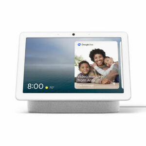 Google Nest Hub Max with Video & Speaker Google Assistant - Chalk (GA00426-US)