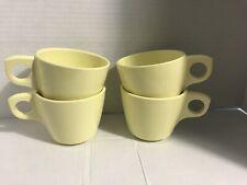 Lot 4 Vtg Mcm Yellow Boonton Melmac Melamine Coffee Tea Cups 201-8 8oz Diner