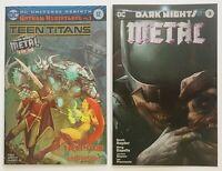Teen Titans 12 Dark Nights Metal 3 Mattina Batman FOIL Variant SET Lot GEMINI