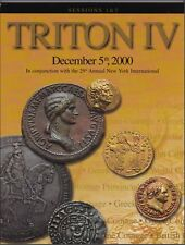 TRITON IV Session 1 & 2 Classical Numismatic Group Ancient Coins