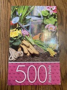 Cardinal 500 Spring Planting Flowers Garden Bulbs NEW Jig Saw Puzzle Sealed