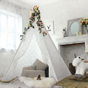 Large Luxury Lace Teepee Tent for Kids Wedding Garden Decor Indoor Outdoor Tipi