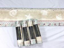 S A Maxwell Co Wallpaper Border Pastels Star Shell Beige Sand 4 Roll Lot