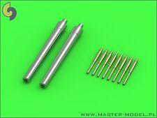 Hms Roberts 15en (2 un.) y 4 pulgadas (8pcs) Metal Barriles # 350080 1/350 Master