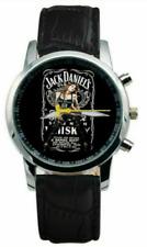 Jack Daniels Watch Beautiful Lady Leather- Mens Wristwatch Black, Brown, White