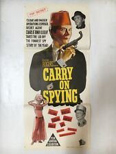 DAYBILL CARRY ON SPYING RARE MOVIE POSTER