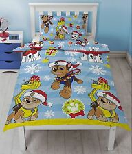 Paw Patrol Christmas Xmas Duvet Cover Quilt Cover Bedding for Single Kids Bed