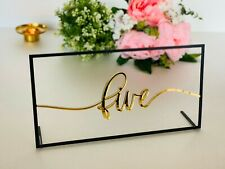 Personalized Wedding Table Number Reception Decorations Calligraphy Custom Signs