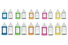 Cherub Baby Colour Change Glass Baby Bottles Wide Neck 150mL / 240mL Twin Pack
