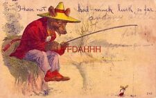 1909 I Have Not Had Much Luck, So Far fishing bear