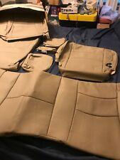 2013 17 Ram Quad Cab 1500 2500 Katzkin Safara Ivory Leather Seat Covers