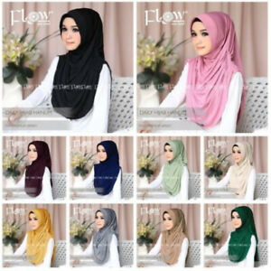 Hanum Instant Hijab One Piece Pinless Slip On Scarf Khimar Jilbab Abaya Islam