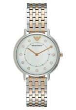 NEW EMPORIO ARMANI CRYSTALS TWO TONE STAINLESS STEEL LADIES WATCH AR2508