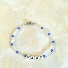 "name bracelet-New Mary 7"" beaded"