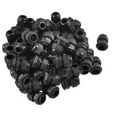 50 x Black Plastic Waterproof Connector PG11 5-10mm Diameter Cable Gland H6B3