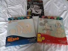 NEW DISNEY STORE Mickey Pluto Finding Nemo Painting Set Cars Velvet Poster Lot