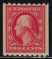 SCOTT 391 1910 2 CENT WASHINGTON REGULAR ISSUE COIL SINGLE MNH OG F-VF CAT $55!