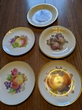 Lot of 5 German Fruit Plates