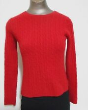 Valerie Stevens  2-ply Cashmere Red  Womens Round  Neck Sweater Size S