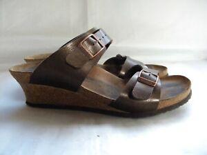 Birkenstock Papillio Dorothy Bronze Wedge Sandal Size EU 41 US 10