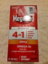 MegaRed Advanced 4-in - 1 500mg OMEGA - 3s 25 Capsule 5/2021