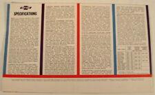 1961 CHEVROLET CORVAIR ADVERTISING SALES COLOR BROCHURE