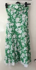 JANE NORMAN SIZE 10 SLEEVELESS STRAPLESS DRESS WITH BODICE SUPPORT . Used
