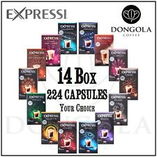 14 BOX (224) You Choose Expressi Automatic Coffee Machine Capsules Pods ALDI