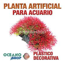 PLANTA ARTIFICIAL ROJA 11CM DIÁMETRO DECORACIÓN ACUARIO PECERA PLÁSTICO D83