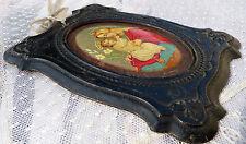Ancien petit cadre en carton moulé religieux Napoléon III