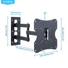 """L02 13-30/"""" LCD LED TV Wall Mount Bracket Tilt Swivel for Small Flat Screen"""
