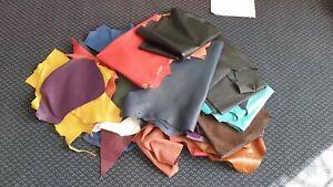 Quality Leather Offcuts   Med/Lrg Scraps and Remnants   ***HUGE BUNDLE***