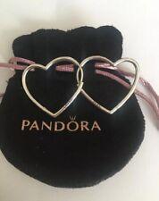 Pandora Asymmetrical Heart Hoop Earrings In A Pandora Pouch