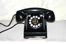 1940s Western Electric 302 Black Metal Rotary Telephone F1 Receiver