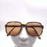 Vintage Universal UOC Brown Square Horn-Rimmed Sunglasses USA FRAMES ONLY