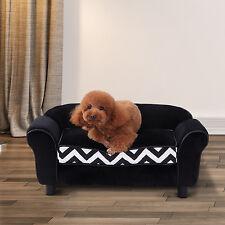 PawHut Sofá para Perro Gato Cama de Mascota Cojín Lavable Extraible Color Negro