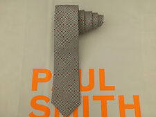 PAUL SMITH Slim Tie Exquisite S/Grey Check 6cm BLADE Silk Long Ties BNWT RRP£80