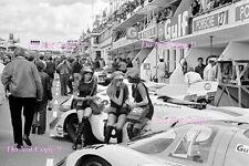 John Wyer Automotive Gulf Porsche 917 Pit Lane Area Le Mans 1971 Photograph
