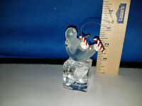 Penguin Ornament Ice Skating on Ice Cube Acrylic 49939 72