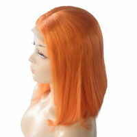 Orange Bob Wig Synthtic Hair 130% Density Short Straight Bob Lace Front Wig