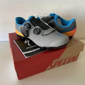 Specialized Recon 3.0 Mountain Bike Shoes 9.3 US-M 42.5 EU Gray/Blue/Orange
