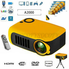 Portable Mini Projector HD 1080P Home Theater LED Video Movie USB/SD/AV/HDMI/IR