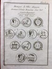 Monnaies Romaines Antiques des Villes d'Espagne 1725 España Numismatique
