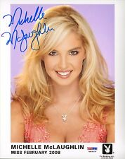 Michelle McLaughlin Signed Official Playboy Headshot 8x10 Photo PSA/DNA COA 2008