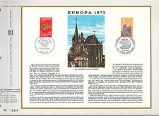 DOCUMENT CEF PREMIER JOUR  1972  EUROPA CATHEDRALE D AIX LA CHAPELLE