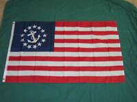 3X5 YACHT ENSIGN FLAG NEW SAIL BOAT NAUTICAL USA F775